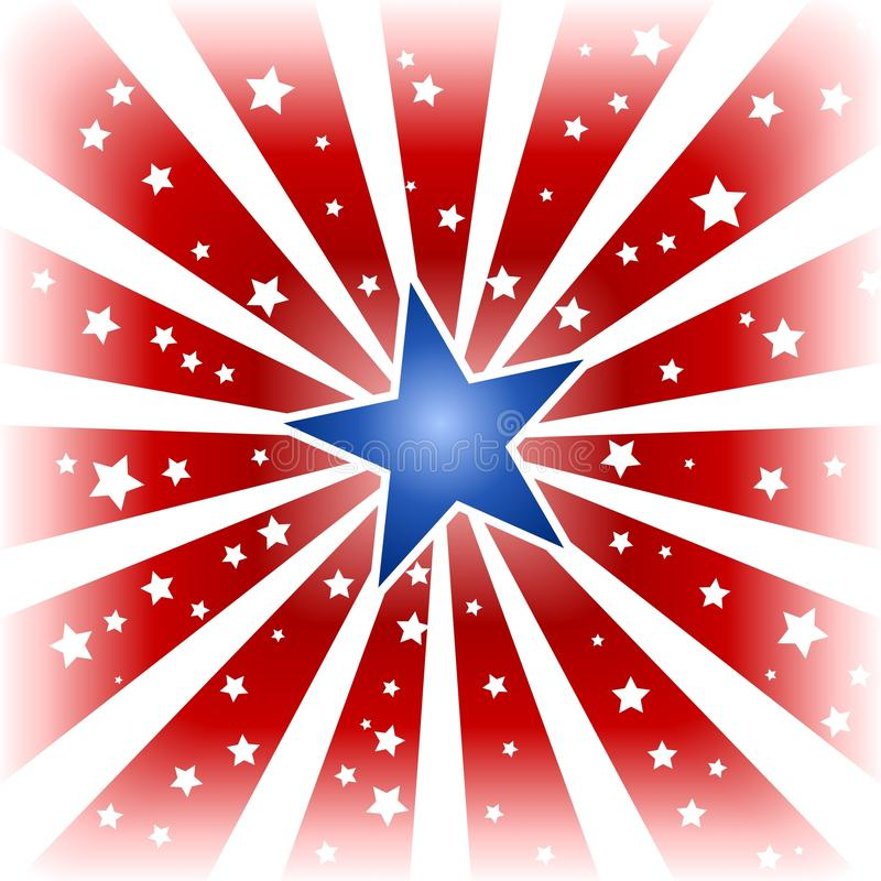 Download Star burst in USA colors stock vector. Image of background - 9699134