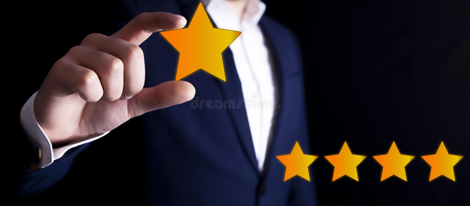 Star business review.  stock photo