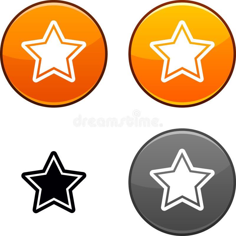 Star button. royalty free illustration