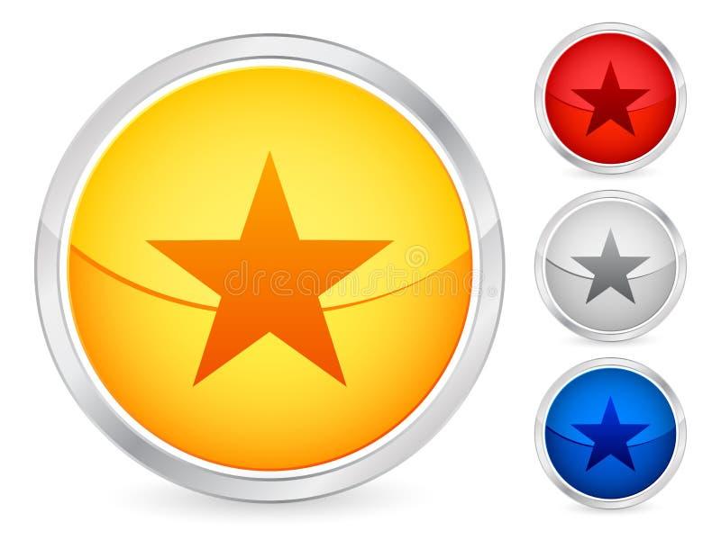 Star button. Star internet button set. Vector illustration royalty free illustration