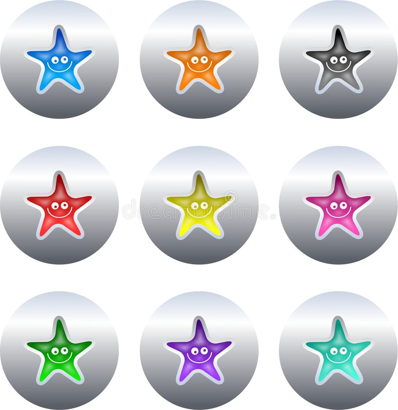 Download Star buttons stock illustration. Illustration of pictograms - 3575462