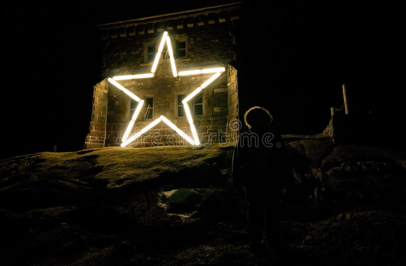 Star on Cabot Tower. At Signal Hill, St.John's, Newfoundland royalty free stock photo