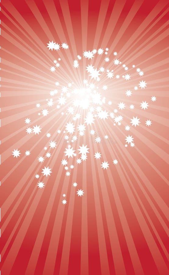 Star Card  Christmas Illustration Stock Image