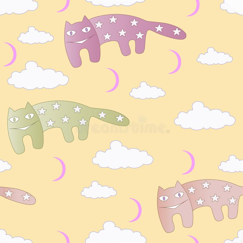 Star cats stock image