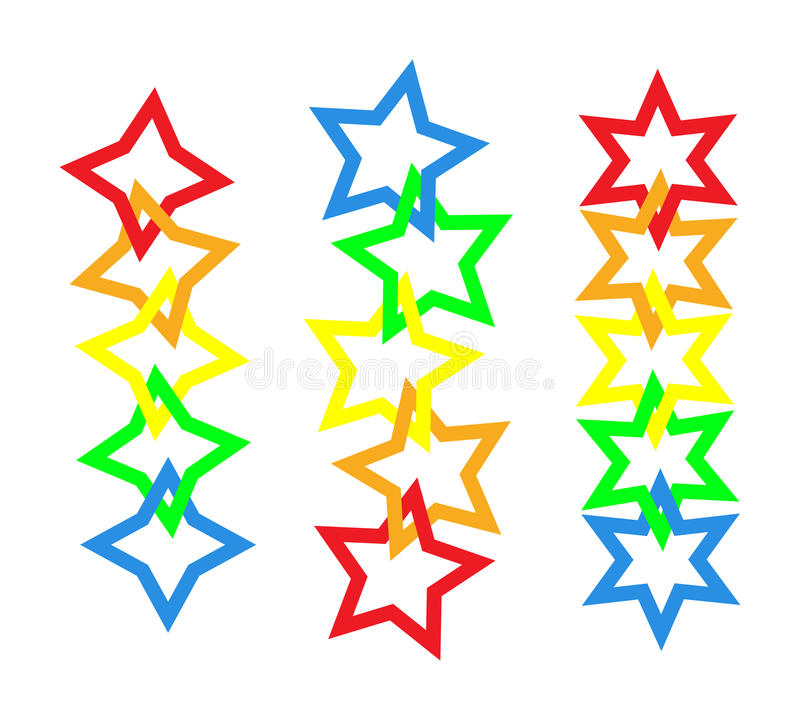 Download Star chains stock vector. Image of chain, link, celebration - 12497501