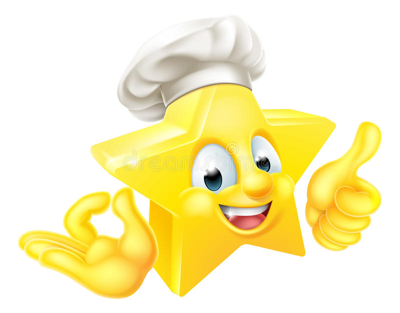 Star Chef Mascot vector illustration