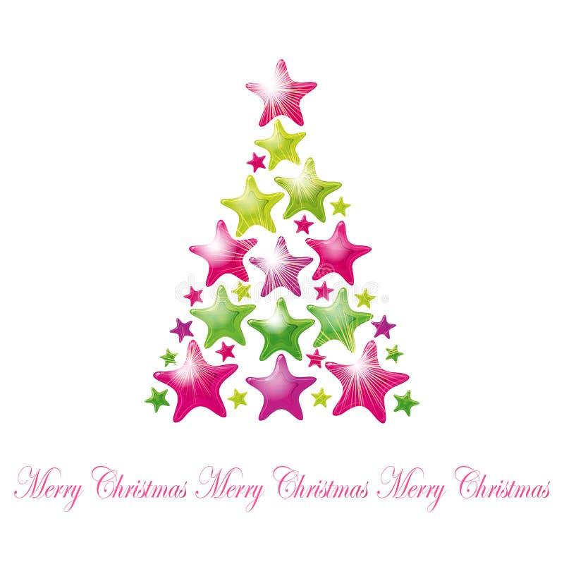 Star Christmas tree stock photo
