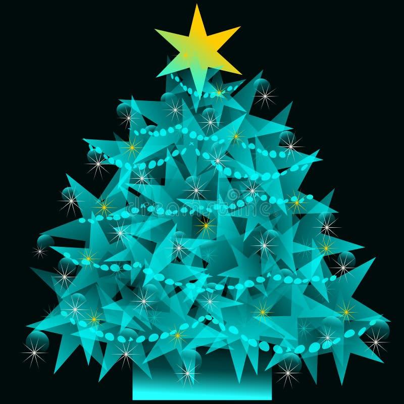 Download Star Christmas tree stock illustration. Image of design - 35737304