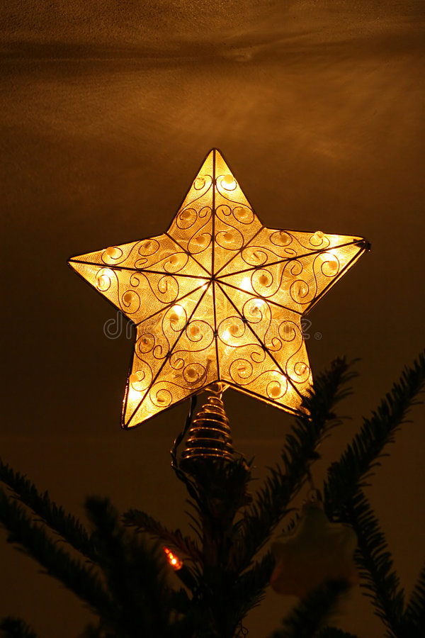 Star Christmas tree topper royalty free stock photography