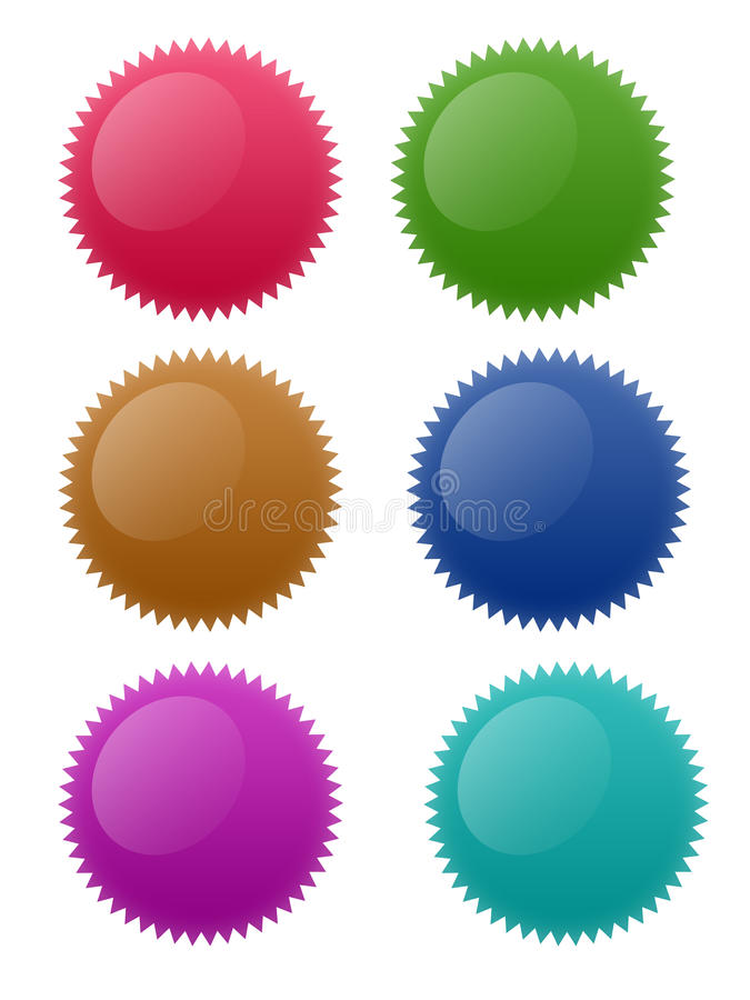 Download Star Circle Buttons stock illustration. Illustration of star - 10757150