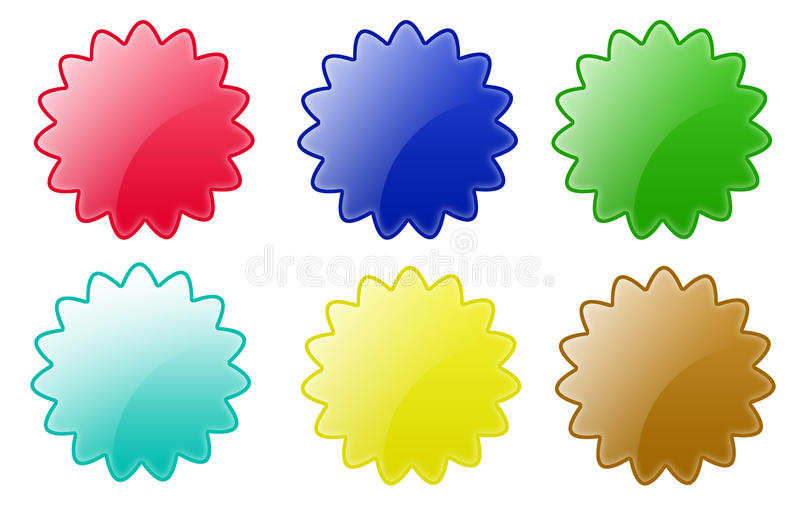 Download Star Circle Buttons stock illustration. Image of glow - 10757445