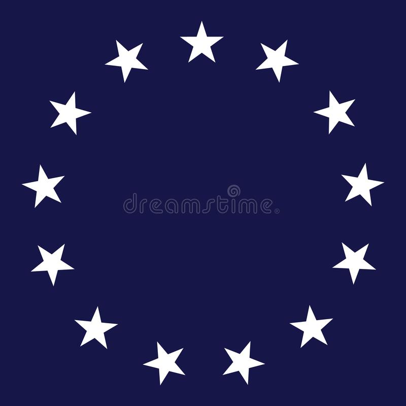 13 Star Circle Vector Illustration royalty free illustration