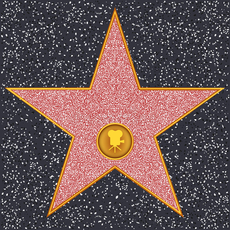Free Star Classic Film Camera (Hollywood Walk Of Fame) Royalty Free Stock Images - 40295859