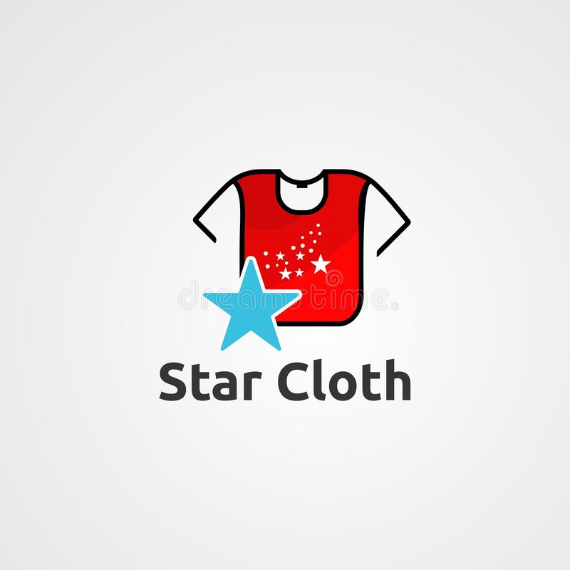 Star cloth logo vector, icon, element, and template for company royalty free illustration
