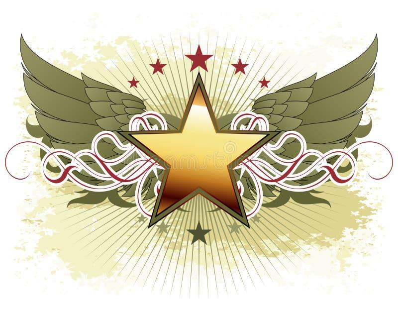Star com elementos ornamentado ilustração do vetor