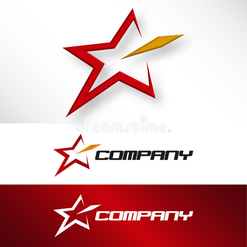 Star Company Embleem royalty-vrije illustratie