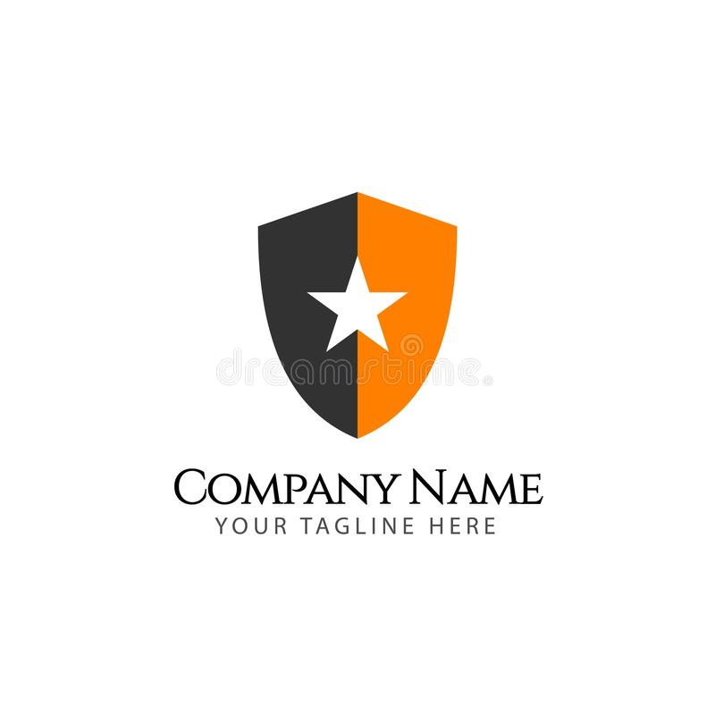 Star Company Logo Emblem Vector Template Design Illustration stock illustration