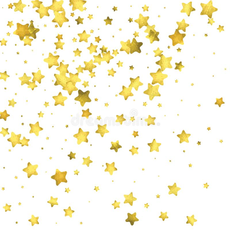 Star confetti gold random confetti background stock vector bright design template vector white and yellow cover template birthday or wedding invitation template abstract card for gifts 2018 new year greeting stopboris Image collections