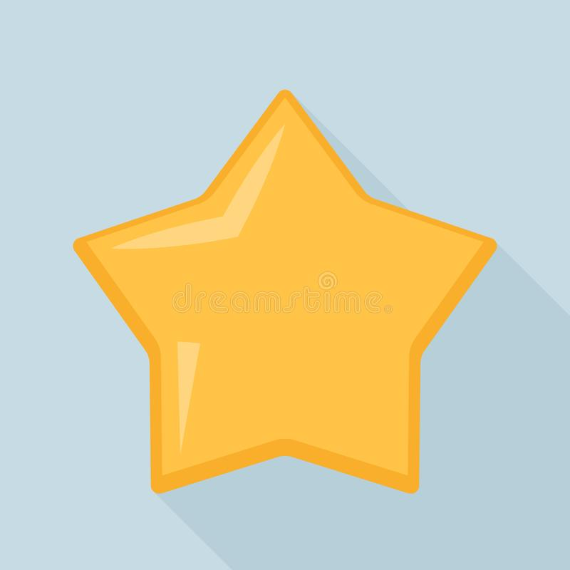Star cookie icon, flat style. Star cookie icon. Flat illustration of star cookie vector icon for web design vector illustration