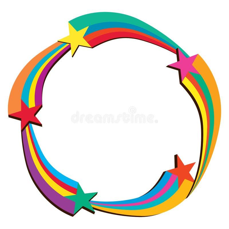 Star 3d line circle template vector illustration