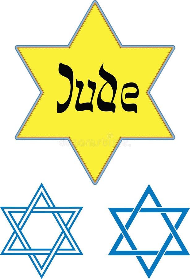 Star of David. Holocaust Badges and Star of David vector illustration