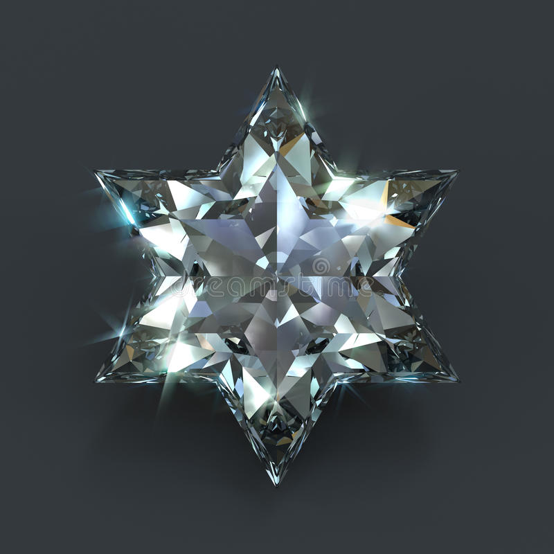 Star of David diamond vector illustration