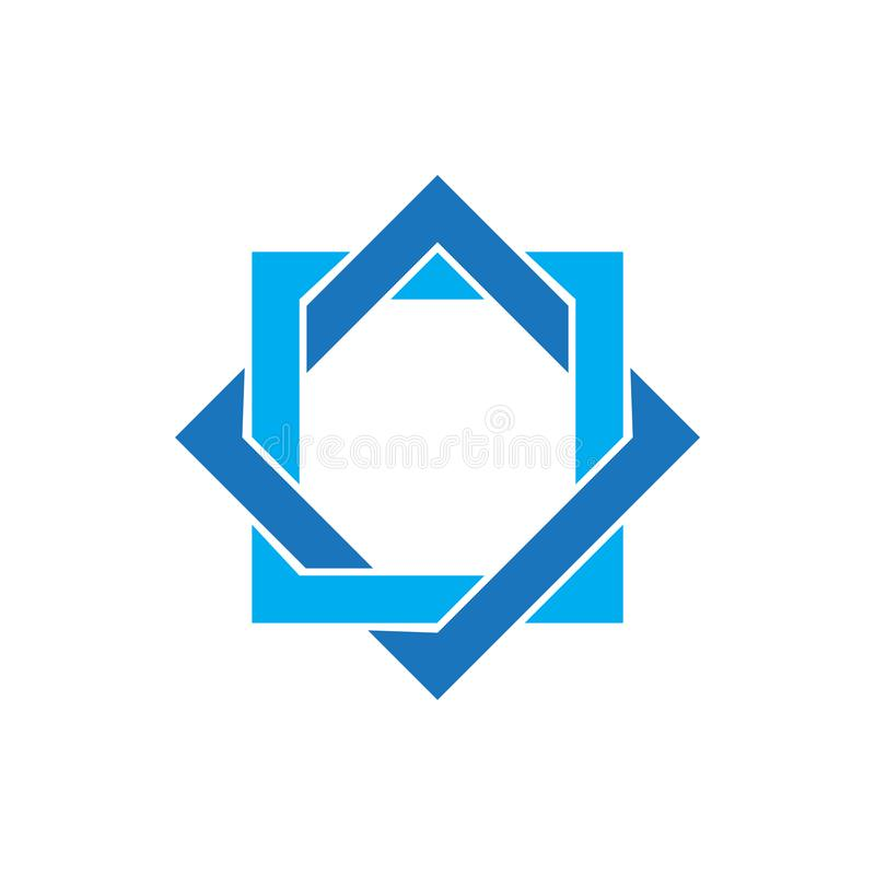 Star david graphic design template vector isolated illustration. Logo, religious, chanukah, jew, biblical, chanukkah, equilateral, khanukah, hexagon, web stock illustration
