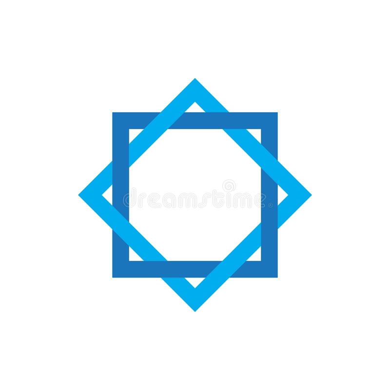 Star david graphic design template vector isolated illustration. Logo, religious, chanukah, jew, biblical, chanukkah, equilateral, khanukah, hexagon, web vector illustration