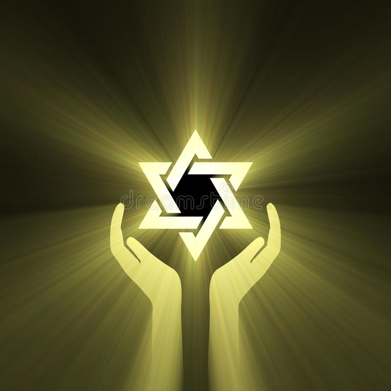 Download Star Of David Hand Support Light Flare Stock Illustration - Image: 12977140