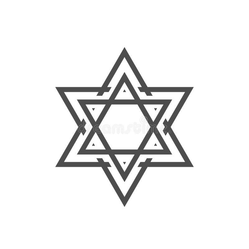 Star of David icon. Generally recognized symbol of modern Jewish identity and Judaism, Israel symbol royalty free illustration