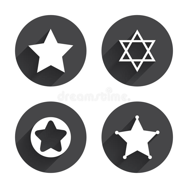 Star of David icons. Symbol of Israel royalty free illustration