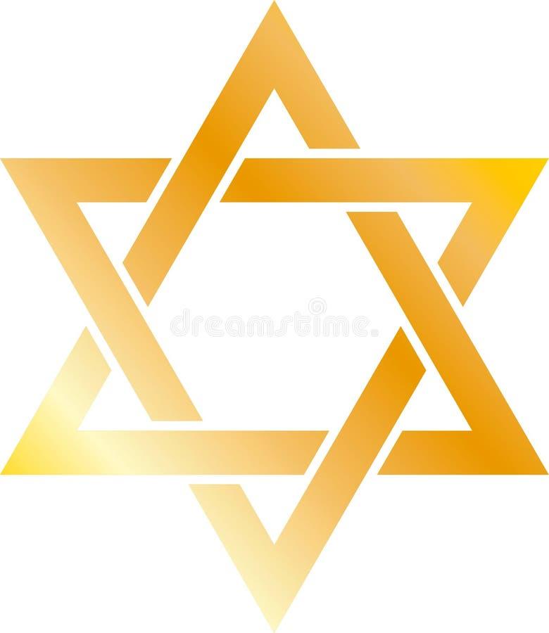 Star of David Jewish Judaism religion gold gradient .ai .eps illustration royalty free illustration