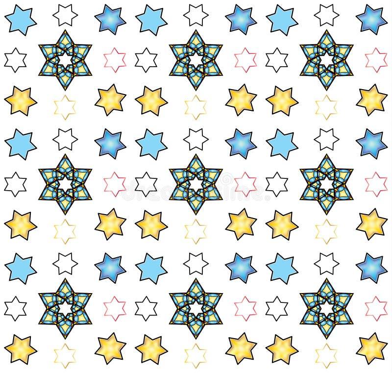 Star of David seamless pattern, vector stock illustration