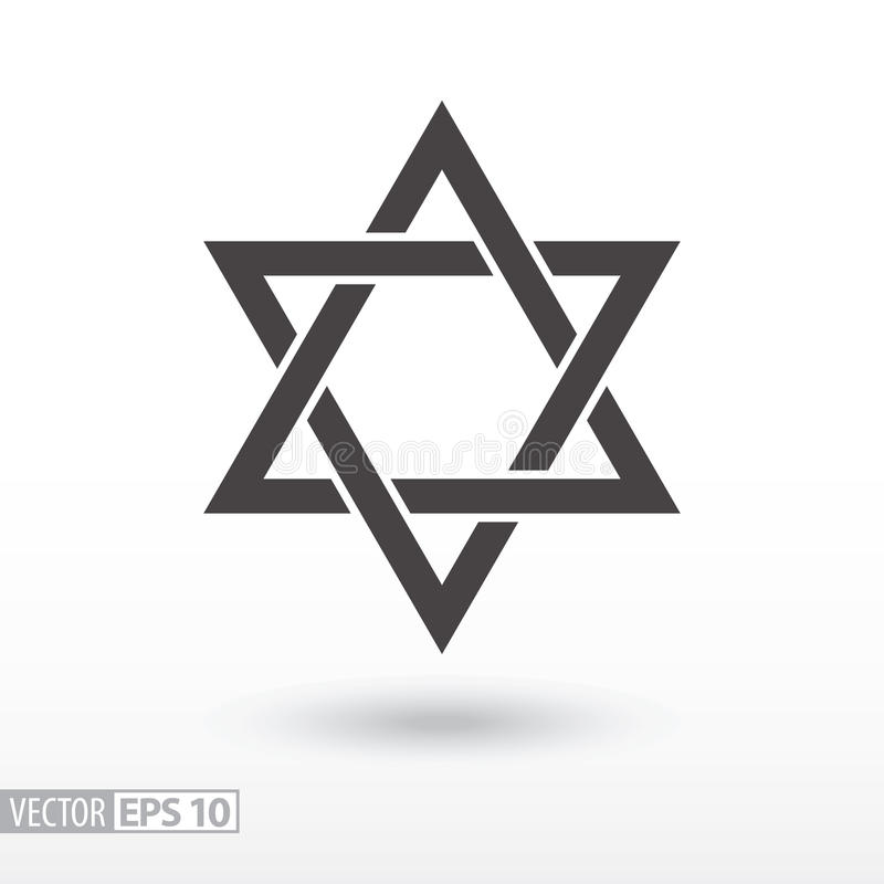 Star of David. Star flat icon. Sign Star. Vector logo for web design, mobile and infographics. Vector illustration eps 10. Isolated on white background stock illustration