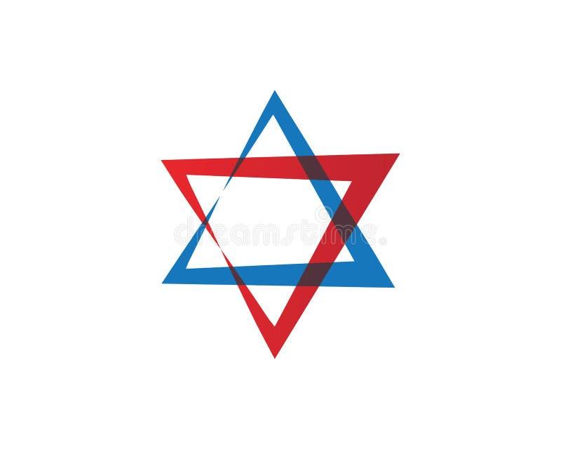 Star David template vector icon. Illustration design jewish magen symbol white israel isolated blue hebrew shield jerusalem judaism hexagram flag hanukkah vector illustration