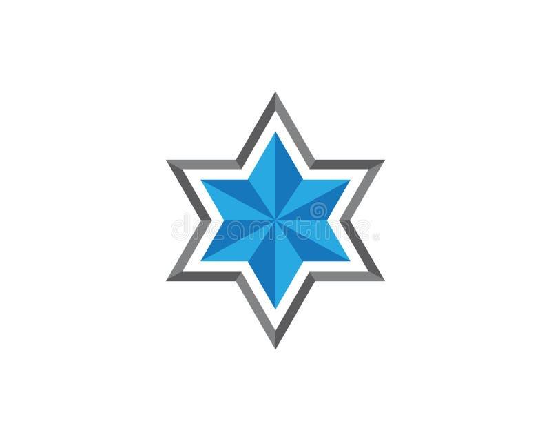Star David template vector icon. Illustration design jewish magen symbol white israel isolated blue hebrew shield jerusalem judaism hexagram flag hanukkah stock illustration