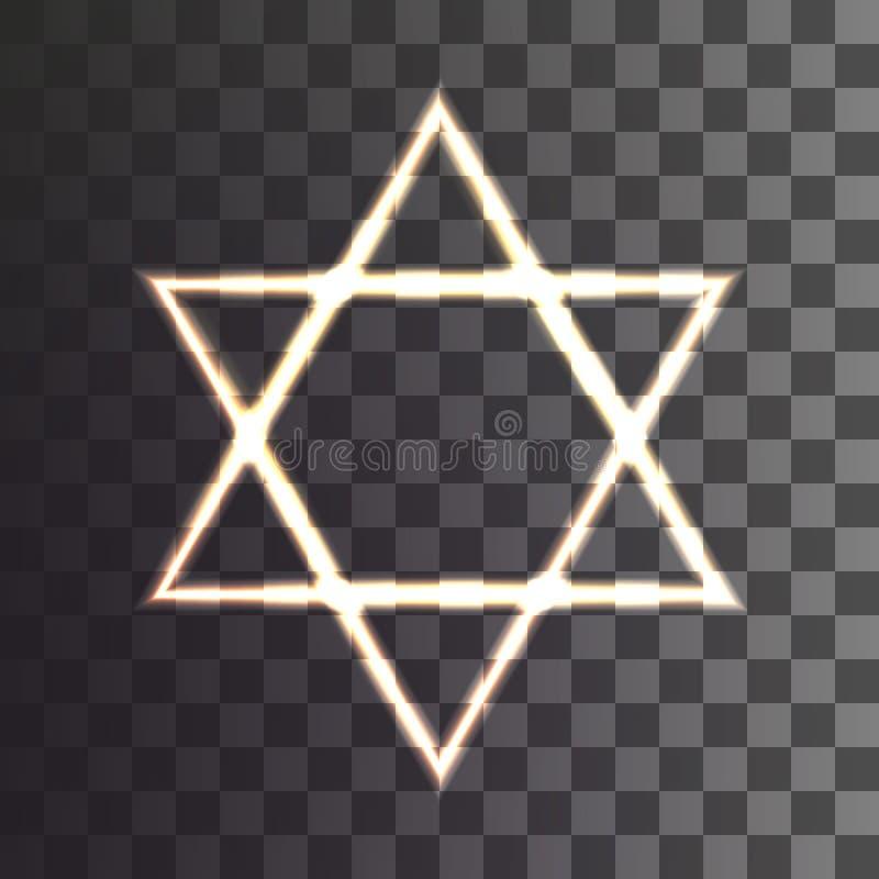 Star of David on a transparent background. Vector illustration royalty free illustration