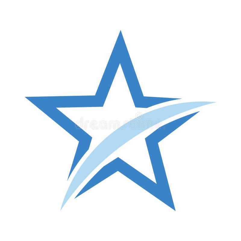 Star design flat logo icon, stock vector illustration stock illustration