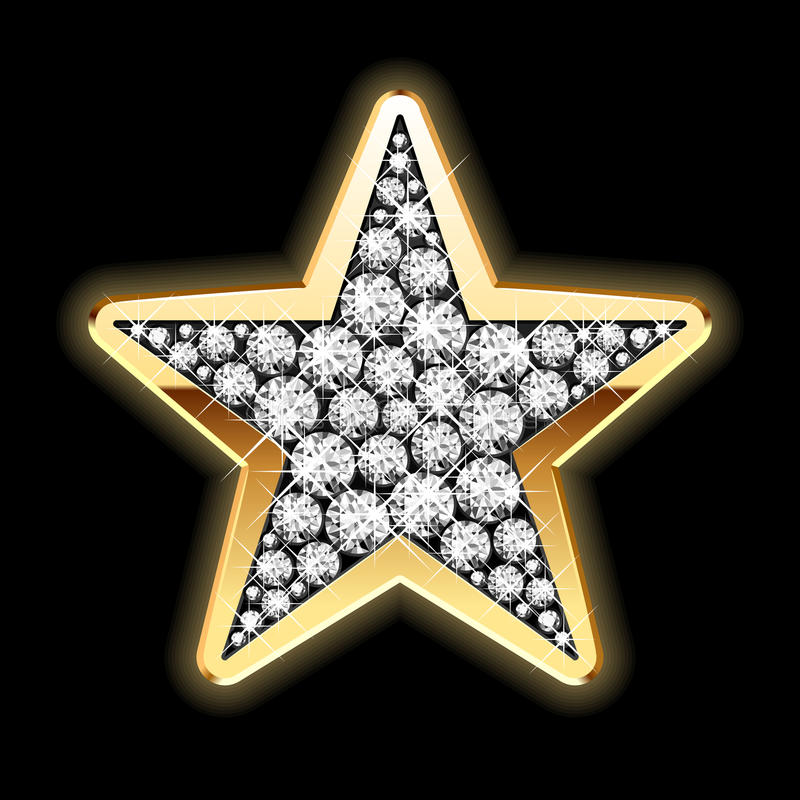 Star in diamonds. Detailed illustration. Detailed vector illustration of a star in diamonds