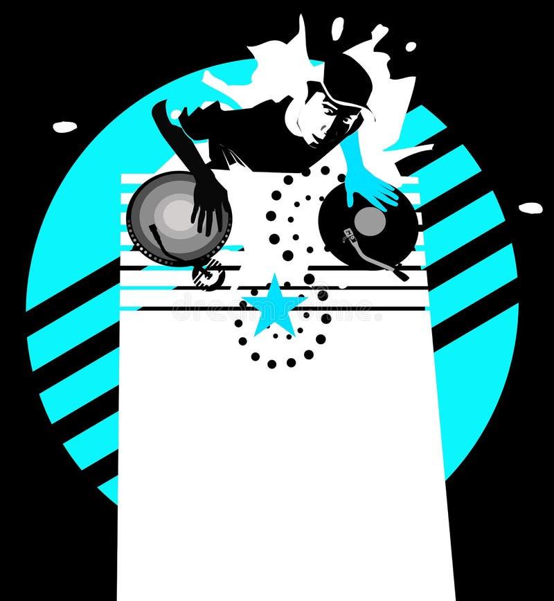 Download Star Dj - Cyan Royalty Free Stock Image - Image: 2611386