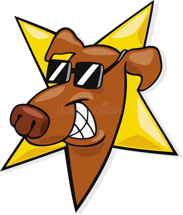 Star dog icon. Cartoon illustration of star dog icon royalty free illustration