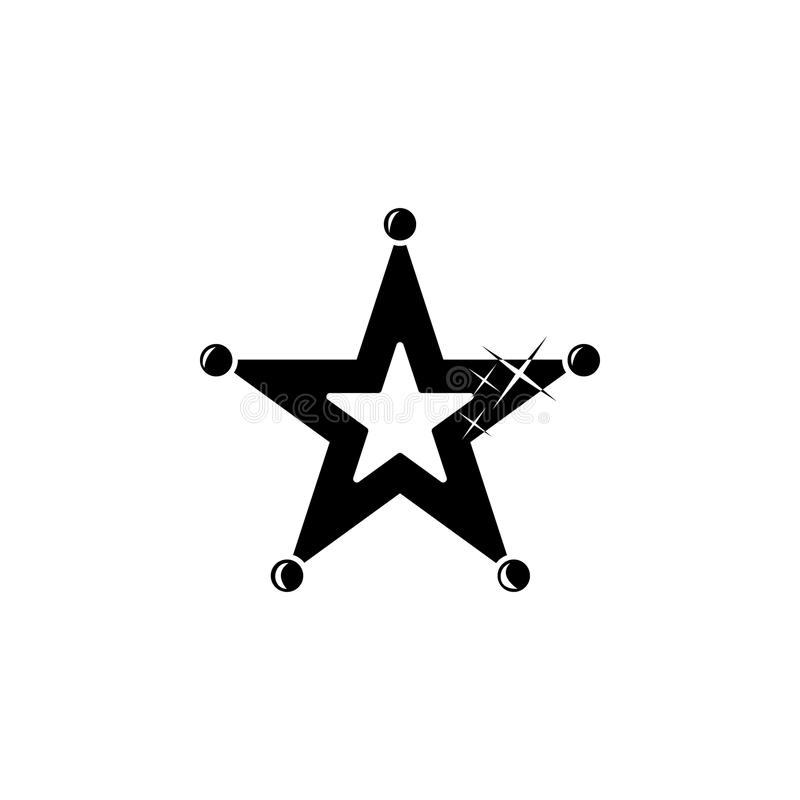 star with dots icon. Element of stars icon. Premium quality graphic design. Signs and symbols collection icon for websites, web de royalty free illustration