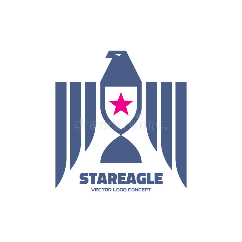 Star Eagle Logo Template Classic Graphic Style For Business