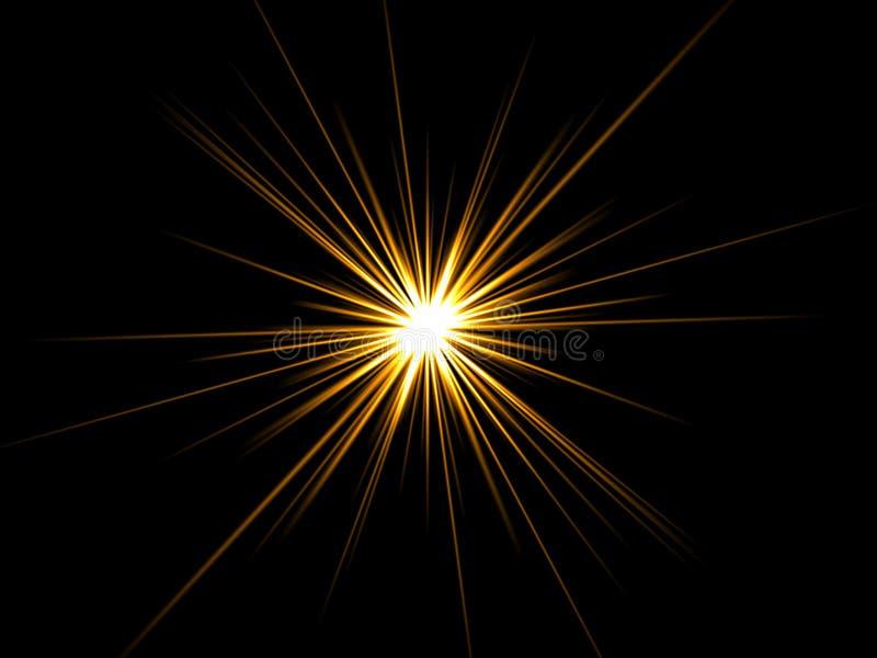 Star en un fondo negro. stock de ilustración