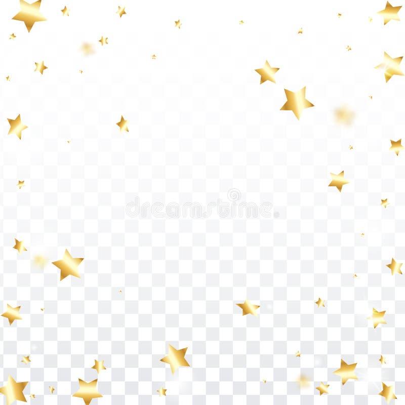 Star falling confetti background. royalty free stock photo