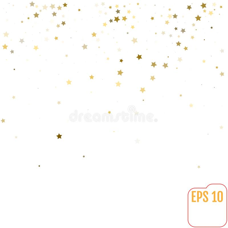 Download Star Falling Print And Modern Creative Pattern Golden Starry Ba Stock Vector