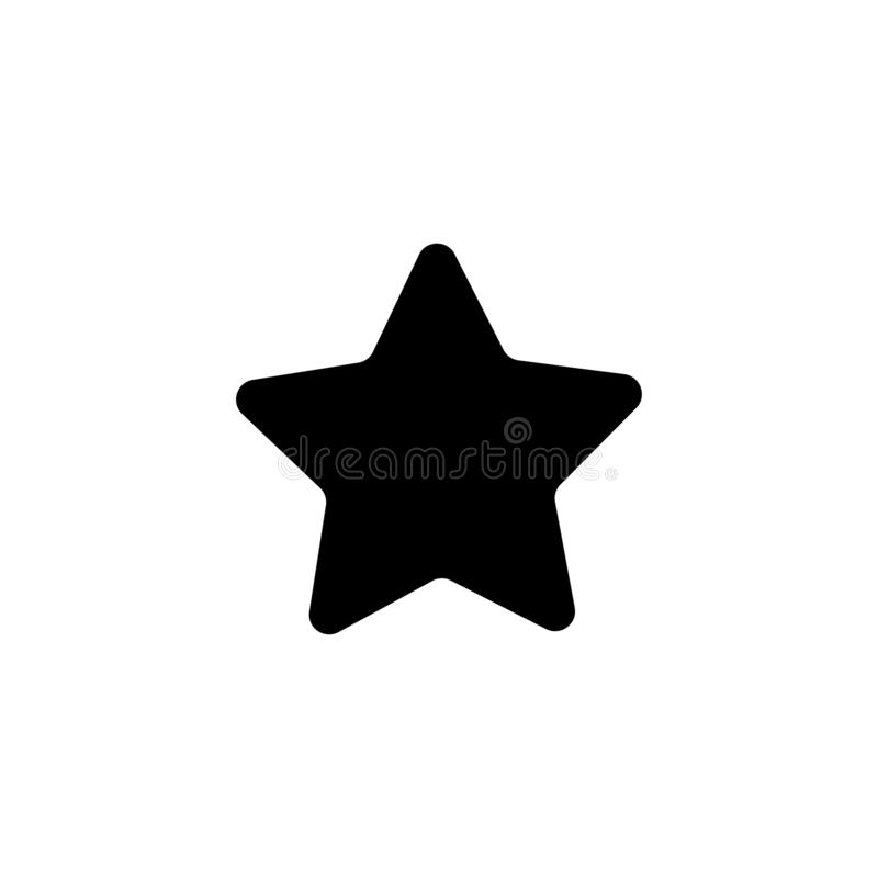 Star icon. Award rating symbol. Star, favorite, rating, bookmark, vector, best, icon, symbol, success, shape, button, web, vote, design, rate, rank, ranking stock illustration