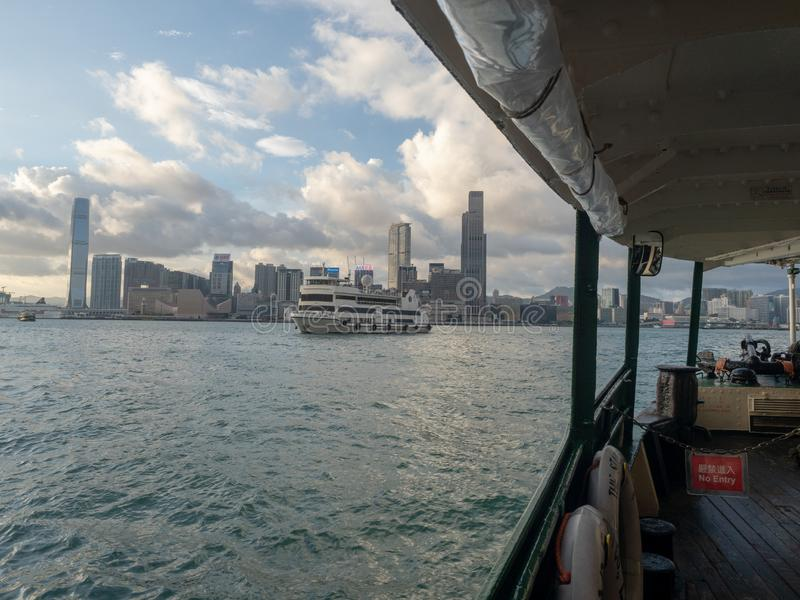 Star Ferry boat on Victoria Harbour, Hong Kong stock photo