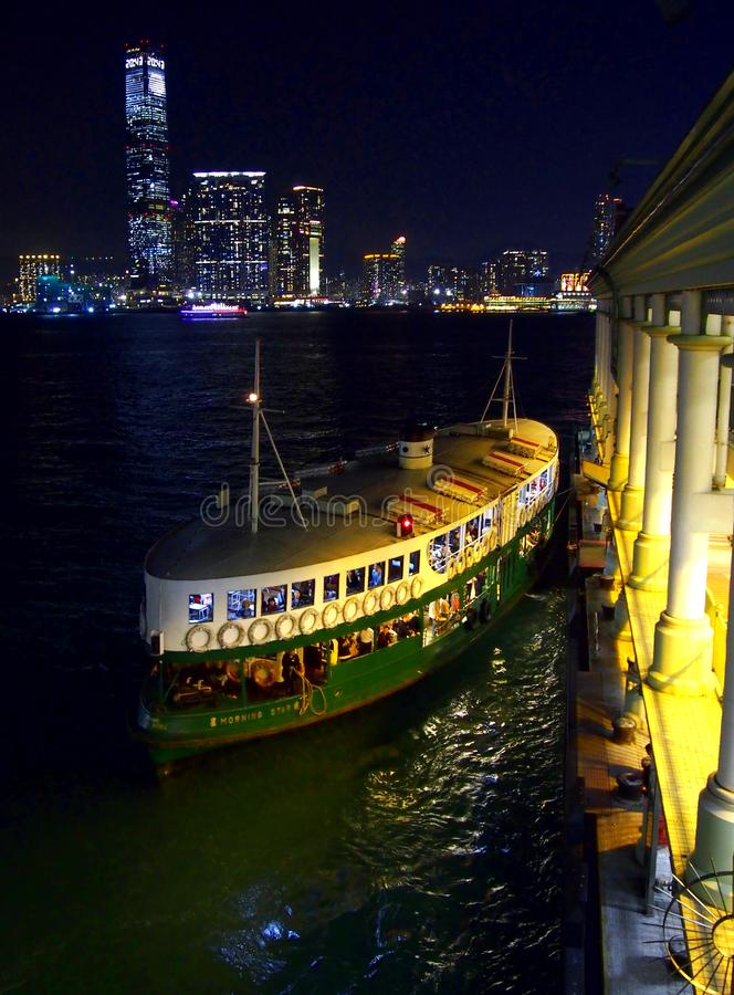 Star Ferry in Hong Kong city royalty free stock photo