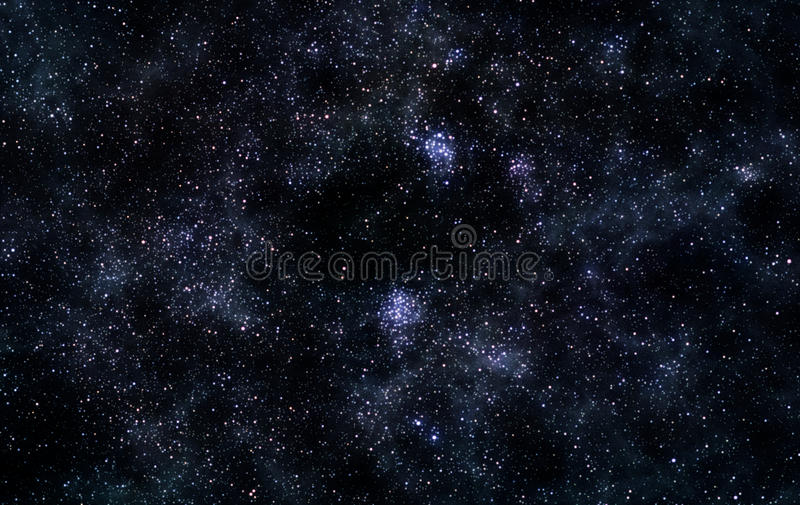 Star field. Astronomical image of dense and bright star field stock photos